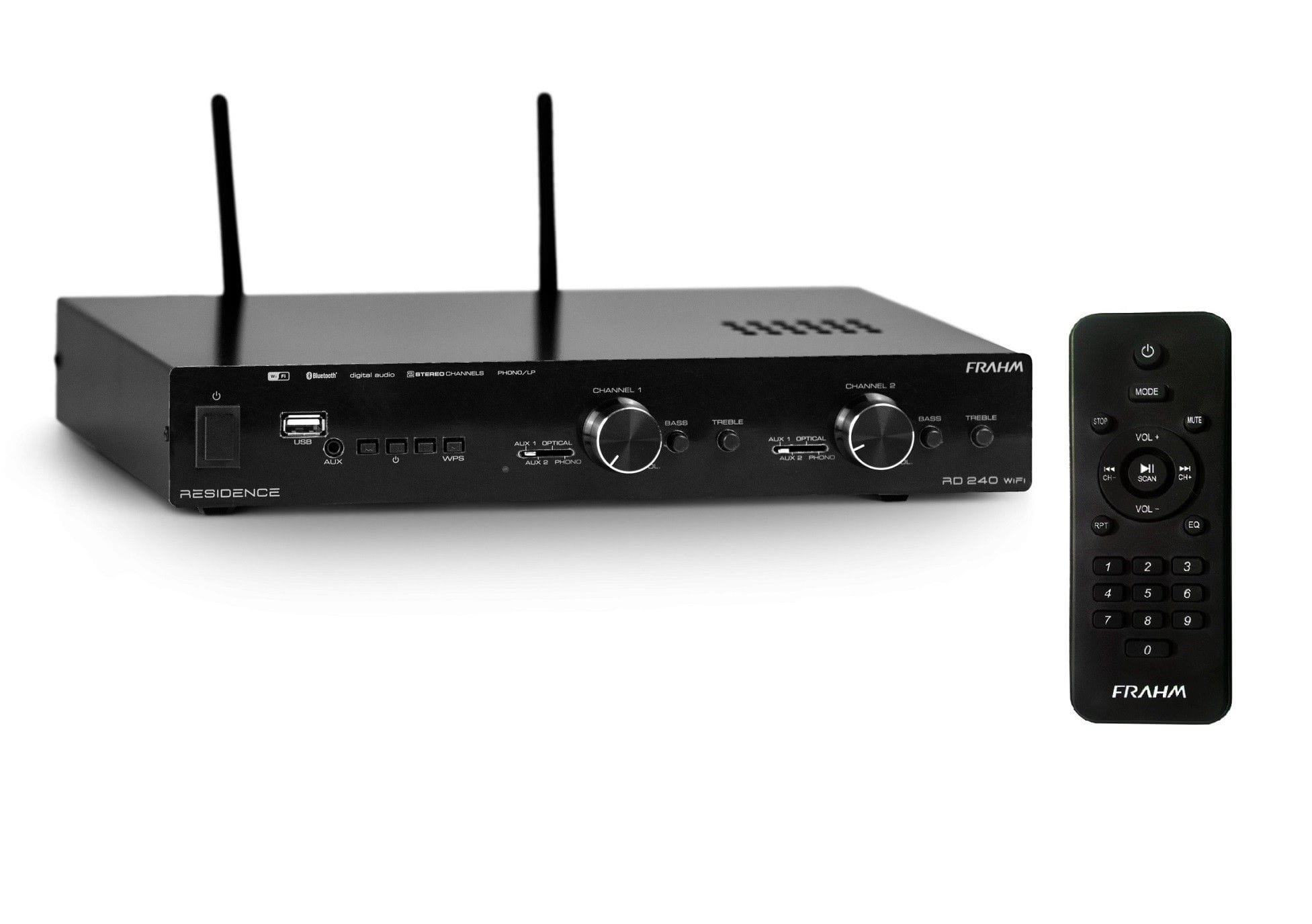 Amplificador Receiver Som Ambiente RD240 Wifi Residence 240W - FRAHM