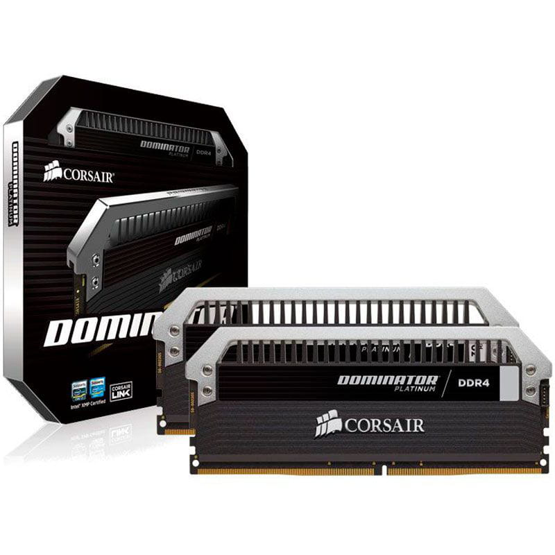 Memoria Desktop Gamer DDR4 32GB Dominator Corsair Kit(2x16GB) 3000MHz Cl15 - CMD32GX4M2B3000C15