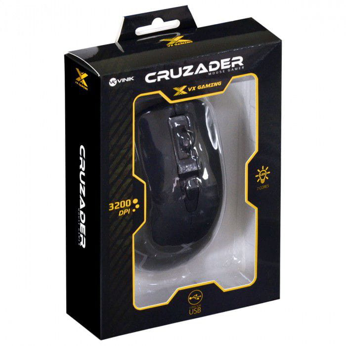 MOUSE GAMER VX GAMING CRUZADER 3200DPI PRETO
