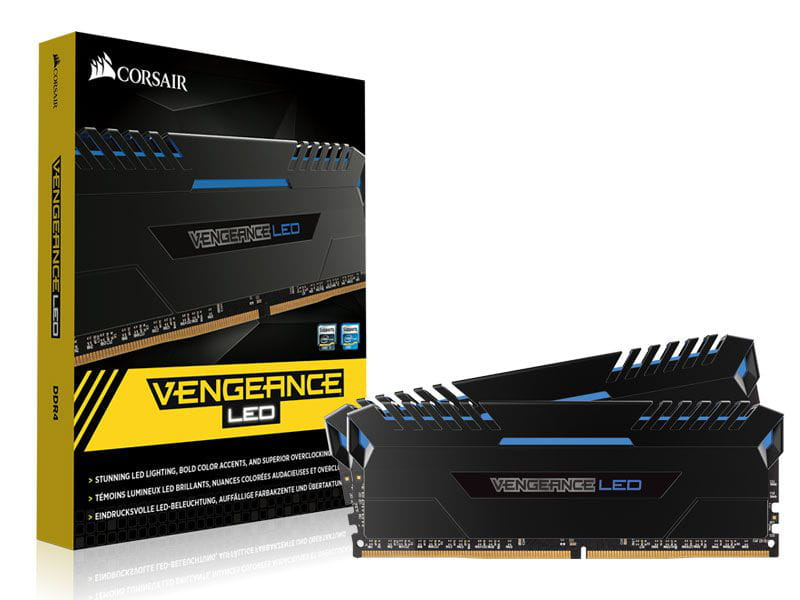 Memoria Desktop Gamer DDR4 32GB Vengeance Corsair Kit(2x16GB) 3000MHz Cl15 - CMU32GX4M2C3000C15B