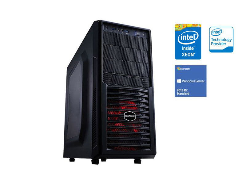 Servidor torre intel windows server centrium sc-t1200 quad core xeon 1220v3 3.1ghz 8gb udimm 500gb 2012 standard