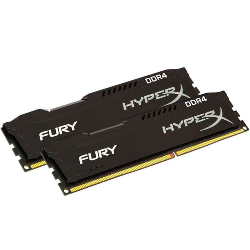 Memória Hyperx Fury Black DDR4 16GB Kit(2x8Gb) 2133MHz Cl14 - HX421C14FBK2/16