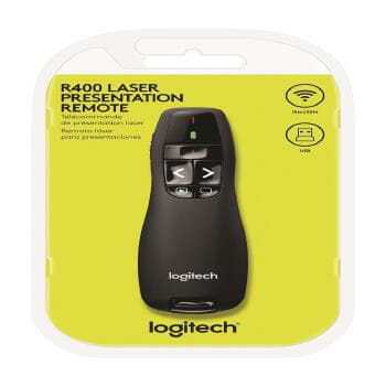 Apresentador logitech presenter r400 wireless - 910-001354