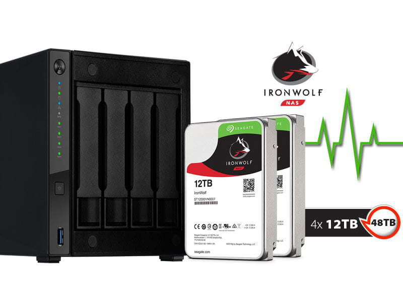 Storage NAS Asustor AS4004T48000 marvell  1,60ghz 2gb ddr4 torre 48tb hot-swap