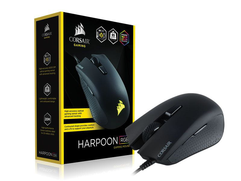 Mouse Corsair Harpoon RGB 6000Dpi Preto Gamer - CH-9301011-NA