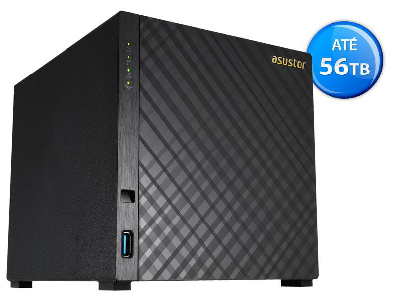 Storage NAS Asustor - AS3204T intel quad core 1,6ghz 2gb ddr3 torre 04 baias
