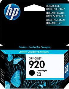 Cartucho de tinta preto HP 920 original (CD971AL)