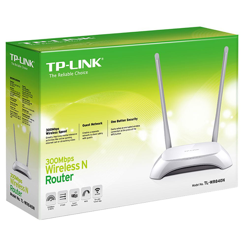 Roteador Wireless TP-Link TL-WR840N 300 Mbps 2 Antenas
