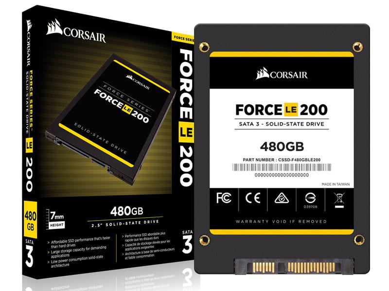 Ssd desktop notebook corsair cssd-f480gble200b force le 480gb 2.5