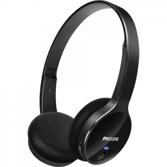 Headphone Philips Wireless Bluetooth 3.0+EDR Com Controle de Volume Preto - SHB4000/00