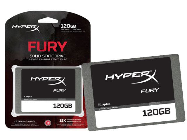 HD SSD 120GB Kingston Hyperx Fury 2.5