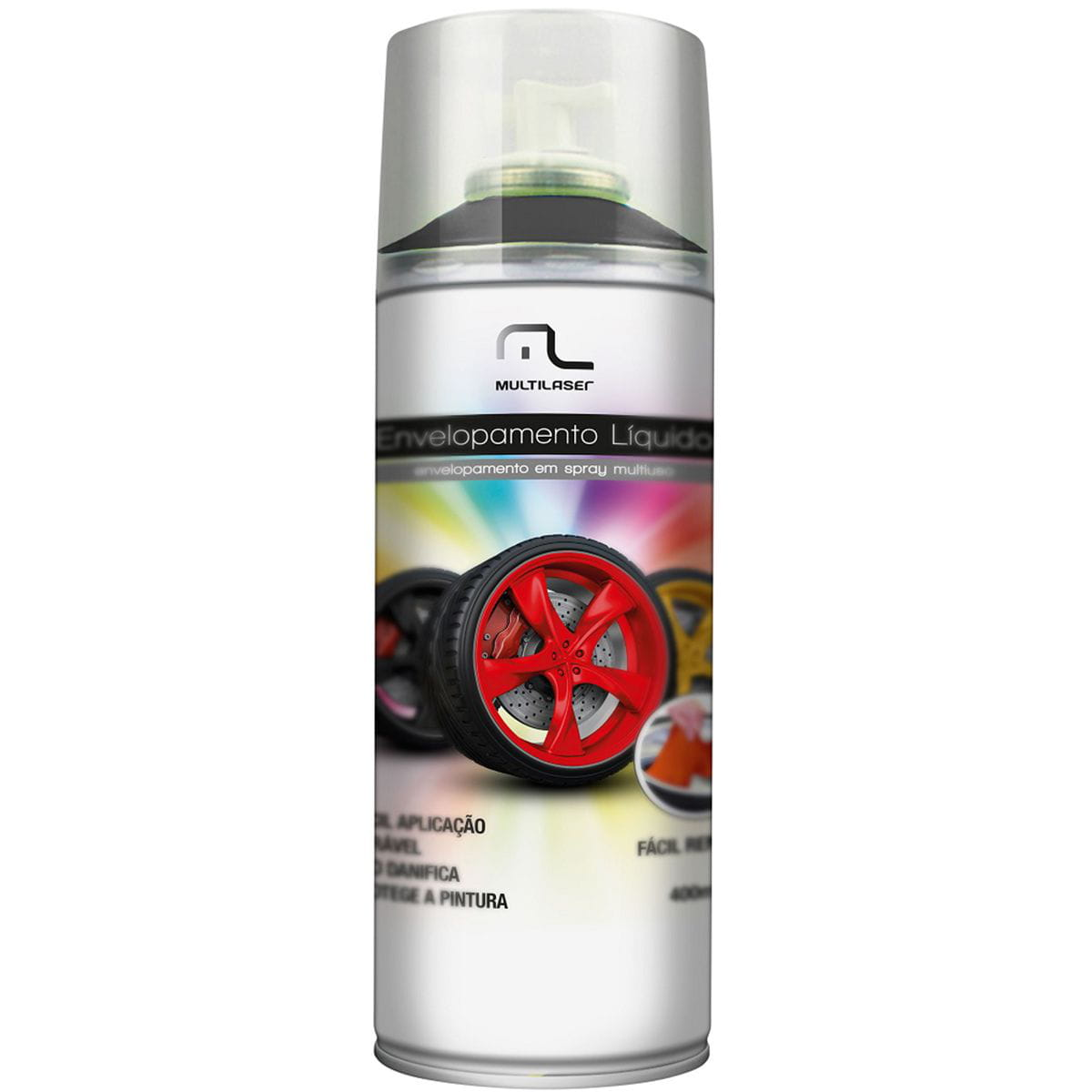 Spray Envelopamento Au420 Preto Fosco Multilaser